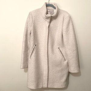 Loft jacket, winter white, sz L, funnel neck coat